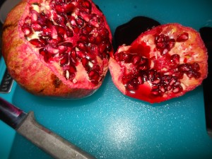 freezing pomegranates 005